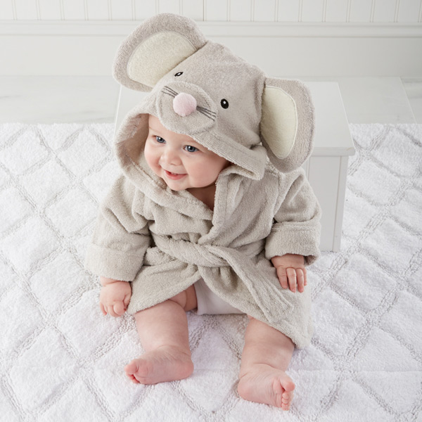 Unique baby shower gift ideas wedding favours australia squeaky clean mouse hooded spa robe negle