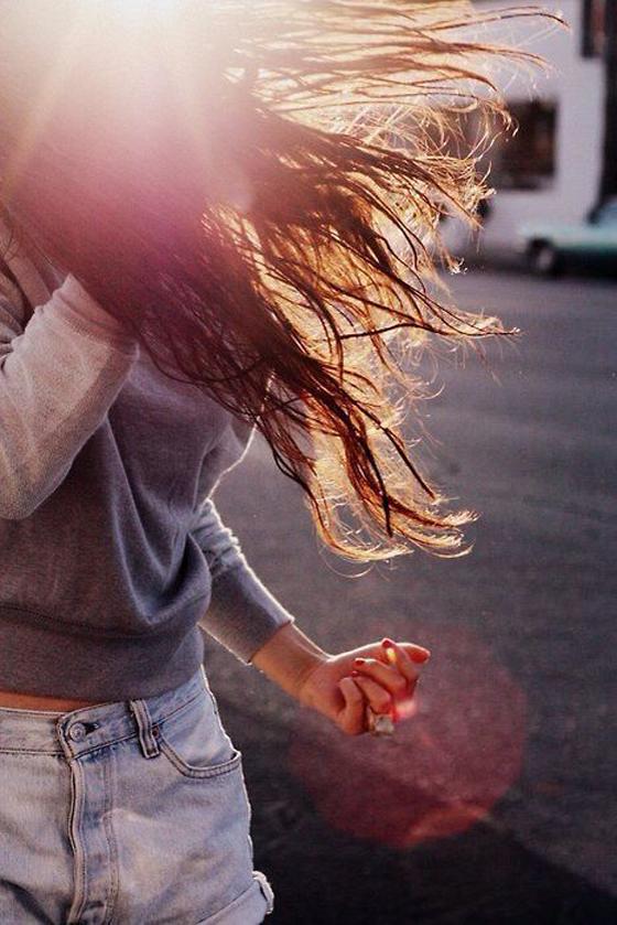 girl, sun, sunny day, long hairs