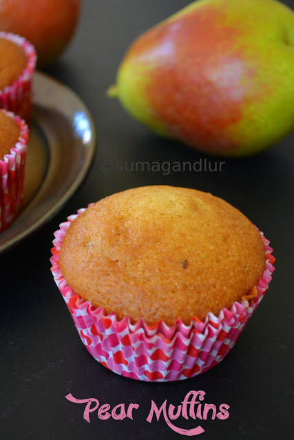 Cardamom Flavored Pear Muffins