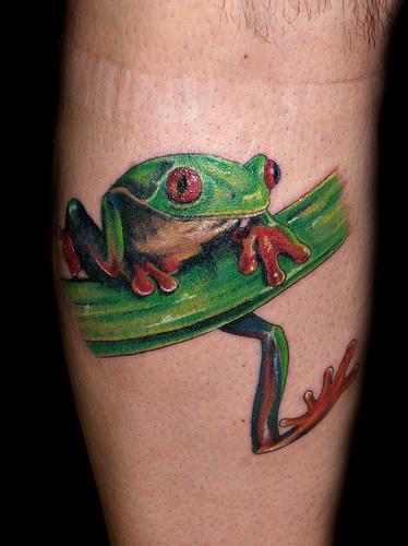 tattoos spot tree frog tattoos