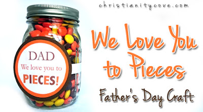 Father's Day mason jar gift with printable tag