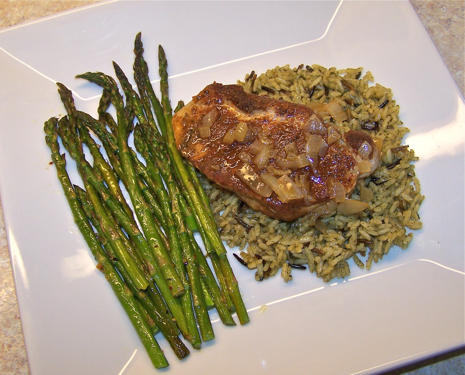 Little Mommy, Big Appetite: Spicy Pork Chops with a Ginger Maple Sauce
