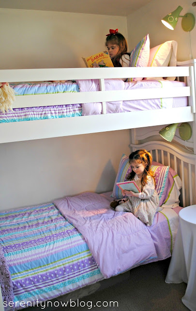 Lamps for Girls' Bunk Bed Set, Screw into the frame! from Serenity Now