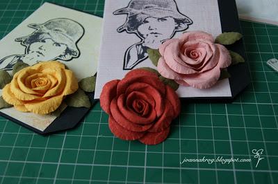разные бумажные цветы от Joanna. мк.