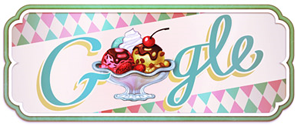 119th Anniversary of the First Documented Ice Cream Sundae, Sundae+_Google_Doodle, image, photo, picture, video