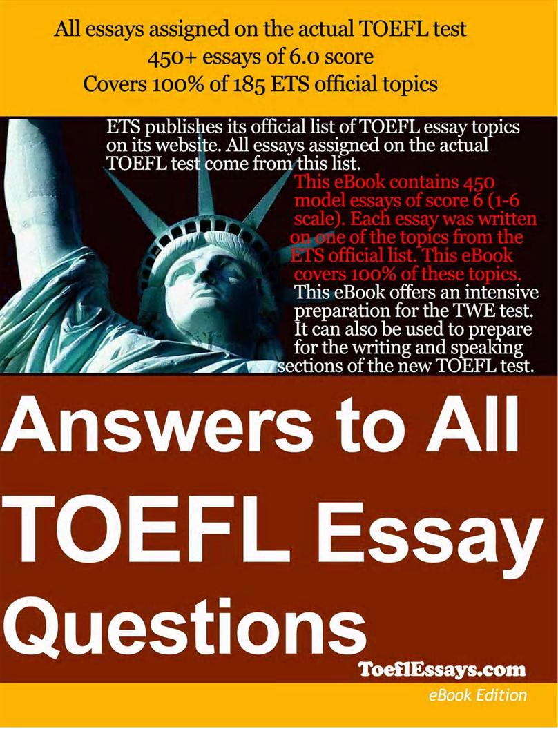 toefl essay writing