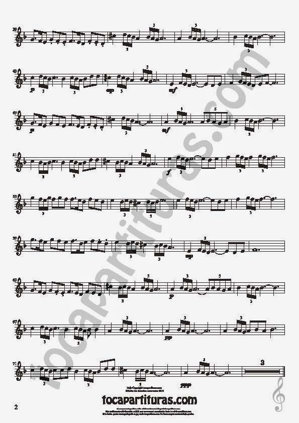 2  Bulería Lenta Partitura de Flauta Travesera, flauta dulce y flauta de pico Sheet Music for Flute and Recorder Music Scores Flamenco