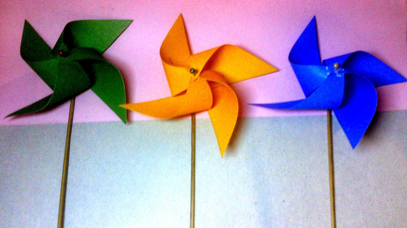 Cara Membuat Kincir Angin Mini