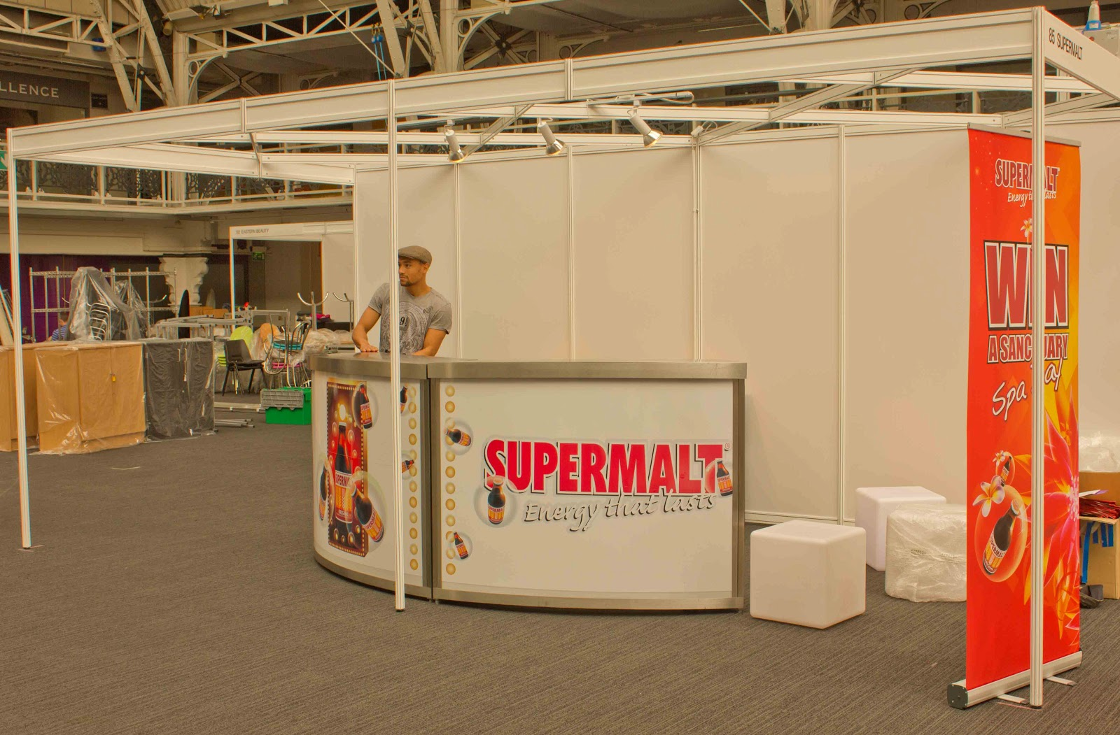 Exhibition Stand Entertainment : Supermalt exhibition stand cocktail entertainment