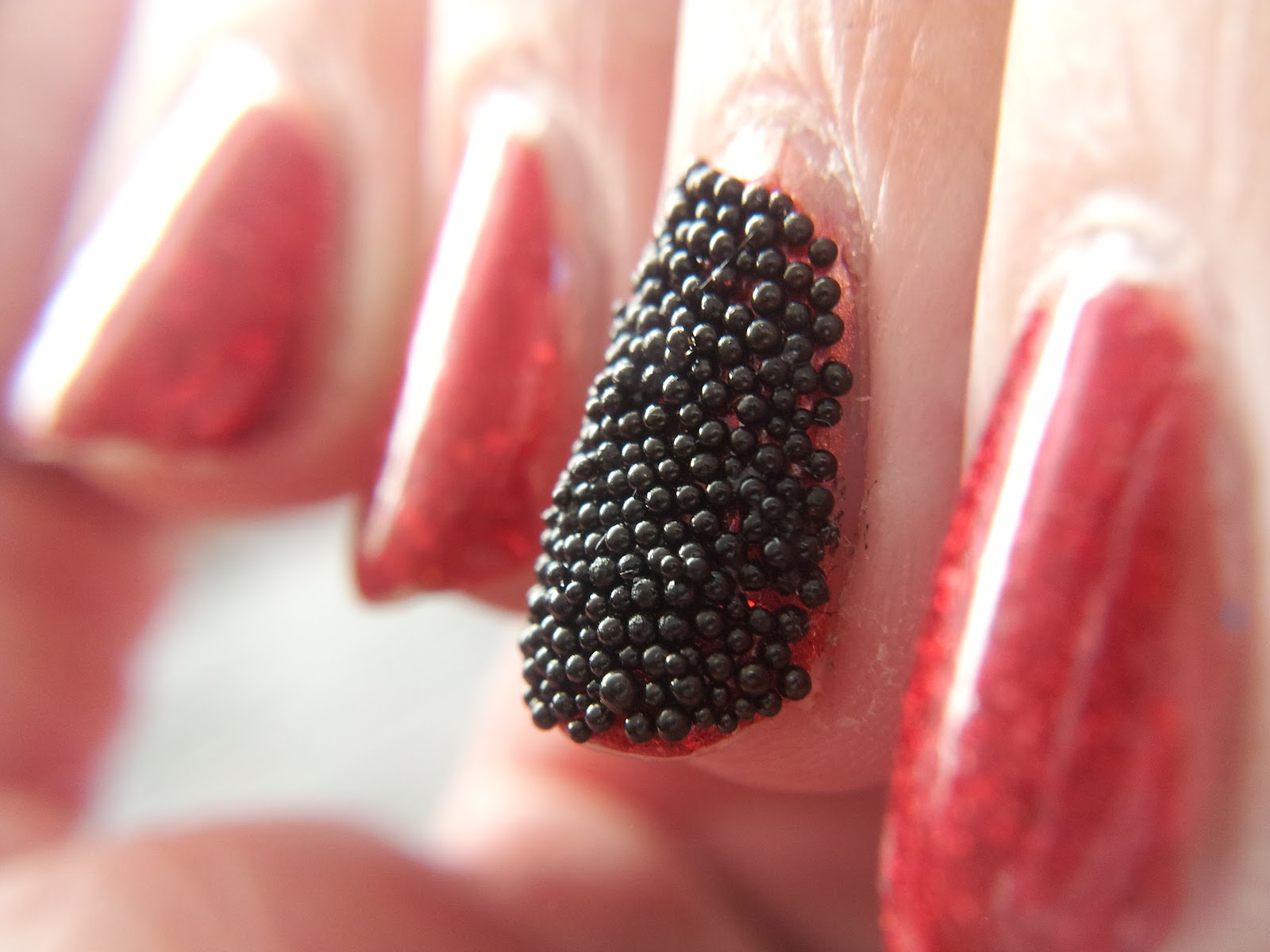 Polish ninja fish egg mani caviar mani for Black fish eggs