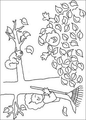 Free Autumn Coloring Pages1