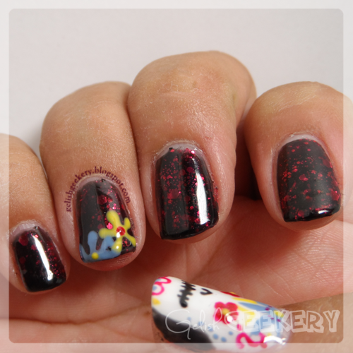 Gelish Day of the Dead Nails and Life Of The Party