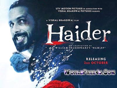 Poster Of Hindi Movie Haider (2014) Free Download Full New Hindi Movie Watch Online At worldfree4u.com