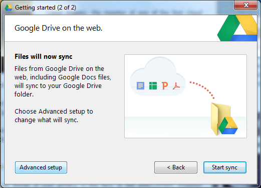 Start your Google drive