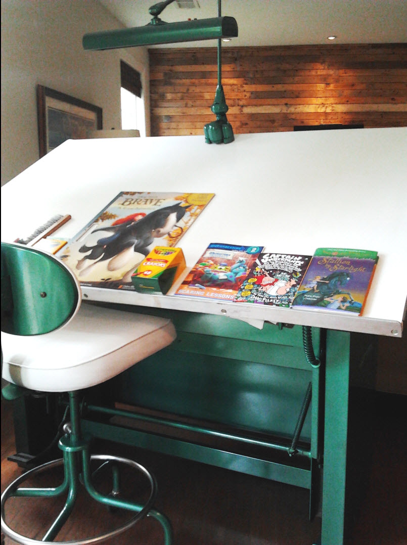 Frog Green Car Paint Amp An Old Drafting Table Mom And Her