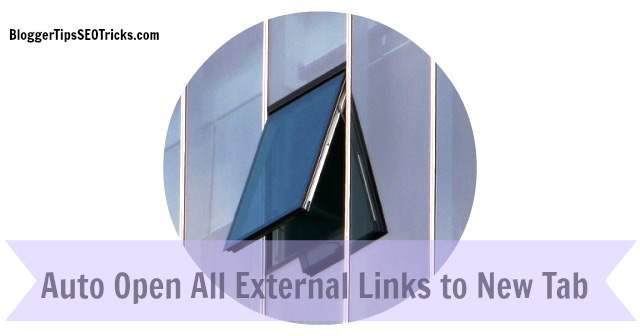 how to open external links automatically in new tabs