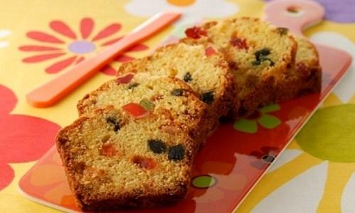 Torta de frutas confitadas