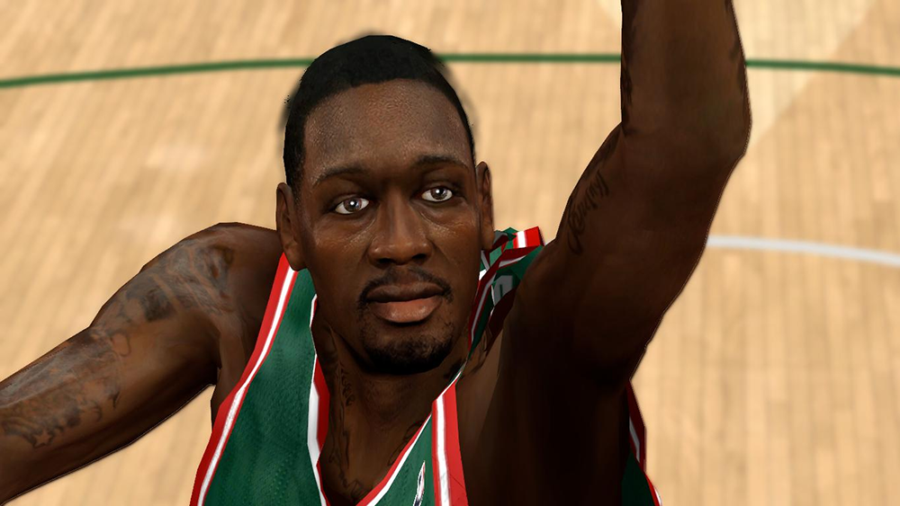NBA 2K14 Larry Sanders Face Mod