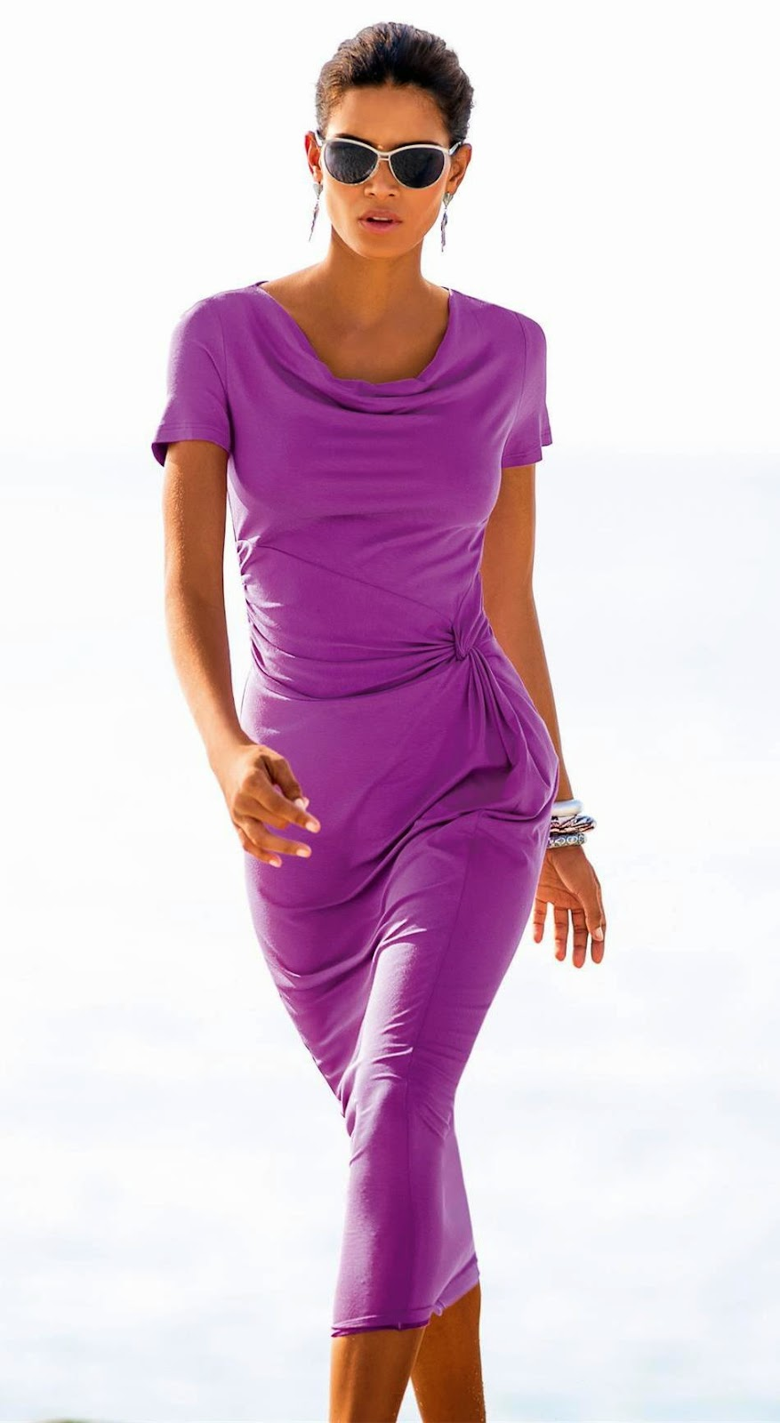 Madeleine Jersey Dress Violet