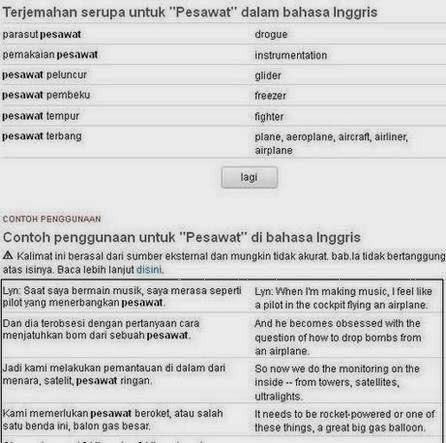 Kamus Terjemahan Inggris Indonesia
