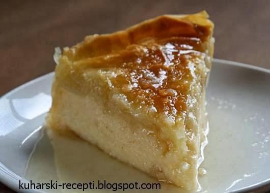 Slatka pita od griza u šerbetu