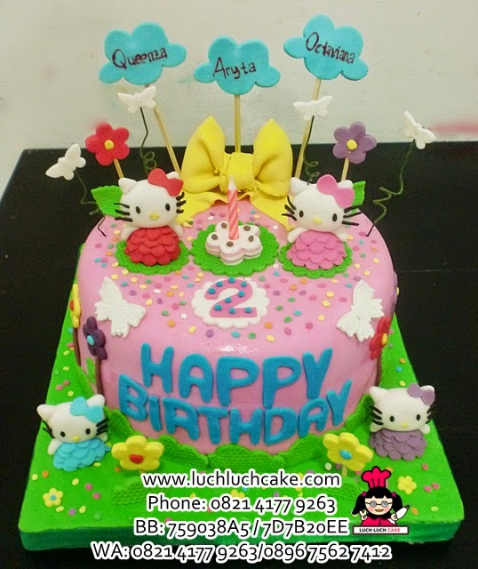 Kue Tart Hello Kitty Fondant Daerah Surabaya - Sidoarjo