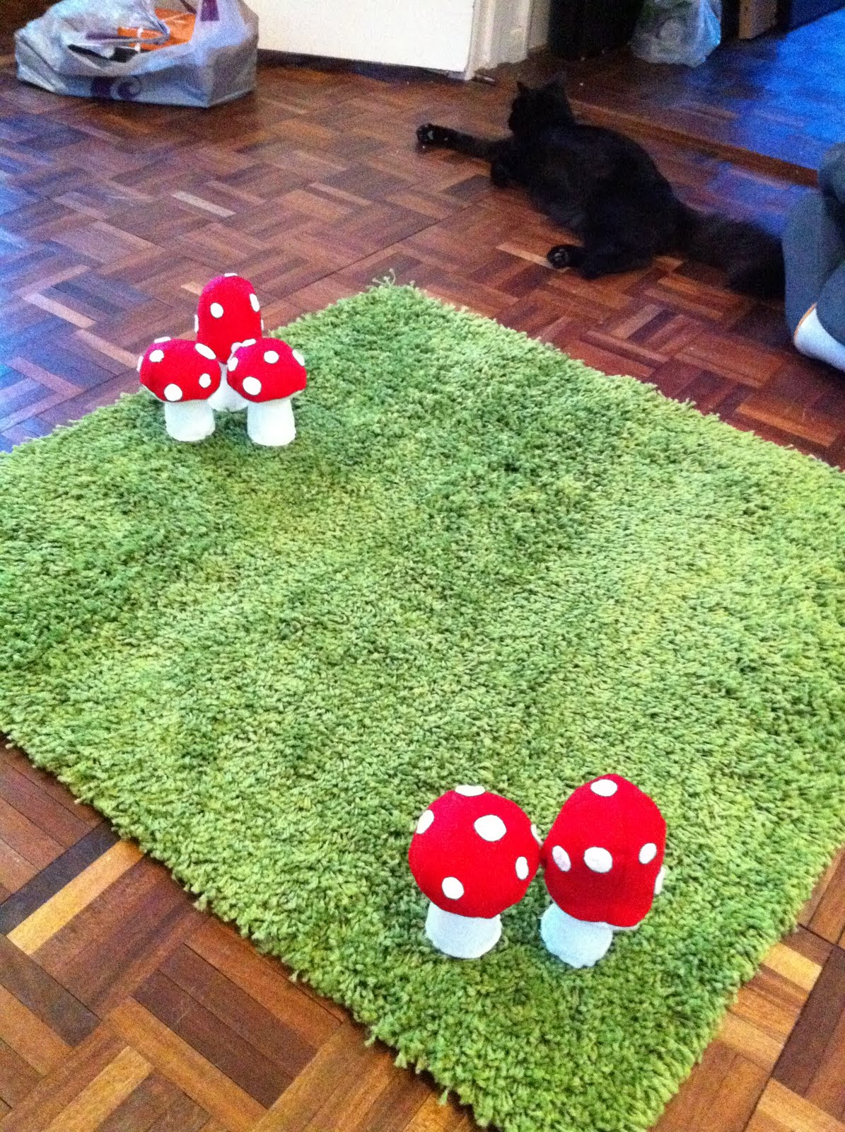 Woodland inspired rug for Ikea grass rug