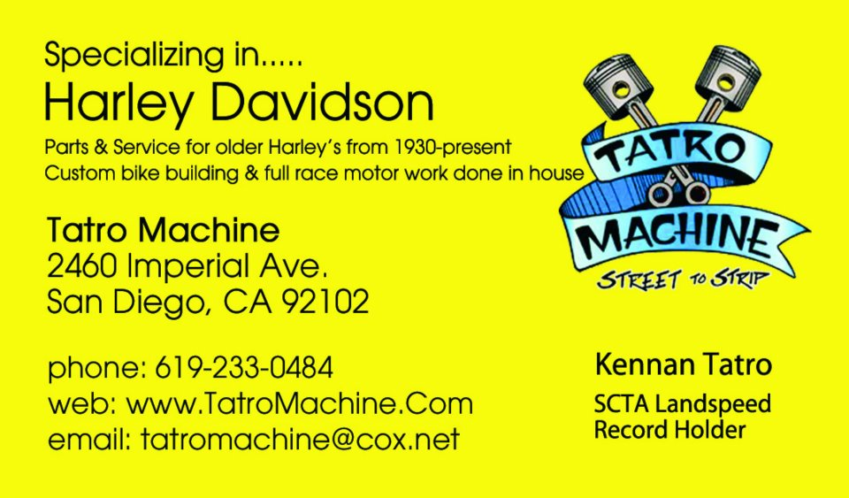 Welcome to Tatro Machine - Specializing in HARLEY DAVIDSON - San Diego 619-233-0484