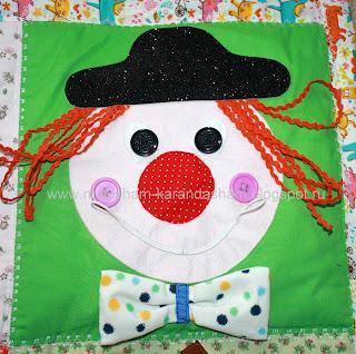 клоун, развивающая игрушка