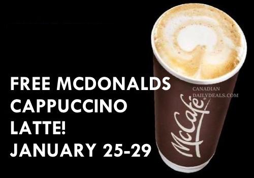 Mcdonalds Free Cappuccino Latte