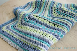 Breath of Heaven Baby Blanket Crochet Pattern by Susan Carlson of Felted Button