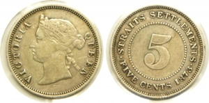 1873 5 cents