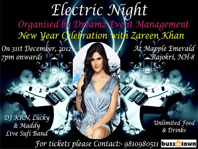 New year celebrations in Delhi with Zareen khan