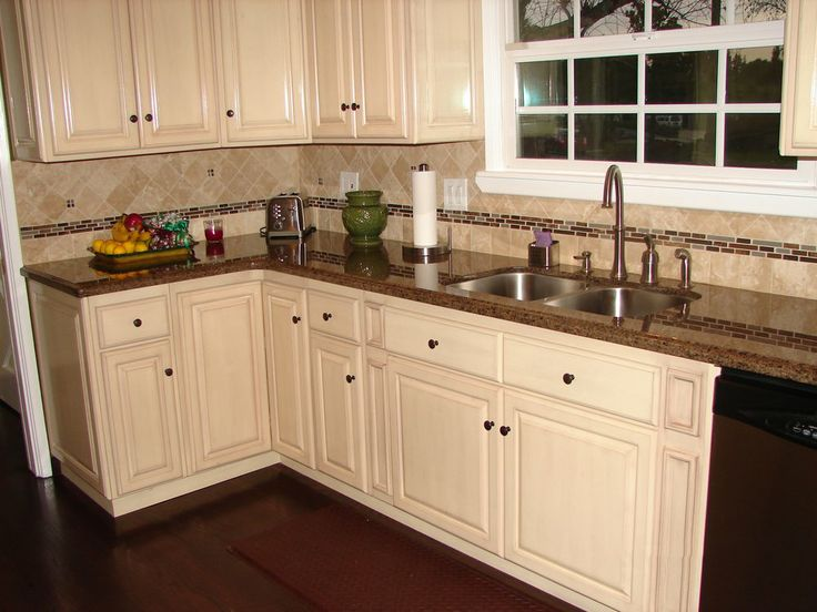 Charmant 2. White Cabinets With Baltic Brown Granite Countertops