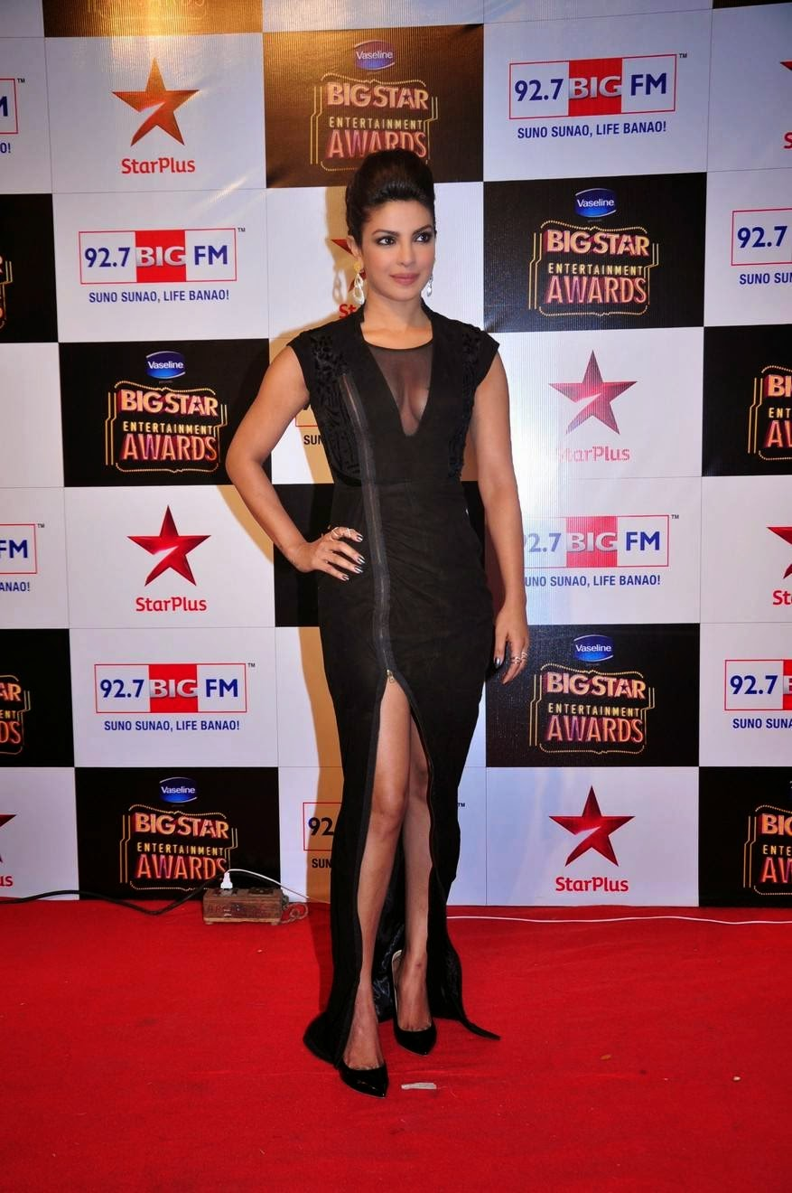 Priyanka Chopra Hot Cleavage Show at Big Star Awards