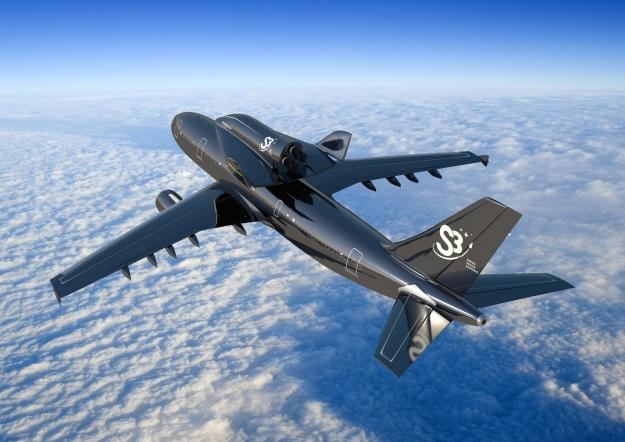 Avião s3  com nave acoplada