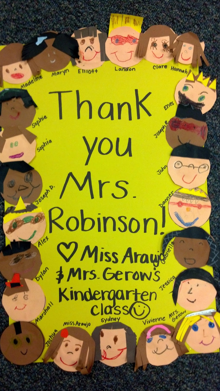 Classroom Thank You Ideas ~ A tale of two k teachers room mom thank you kindergarten fun