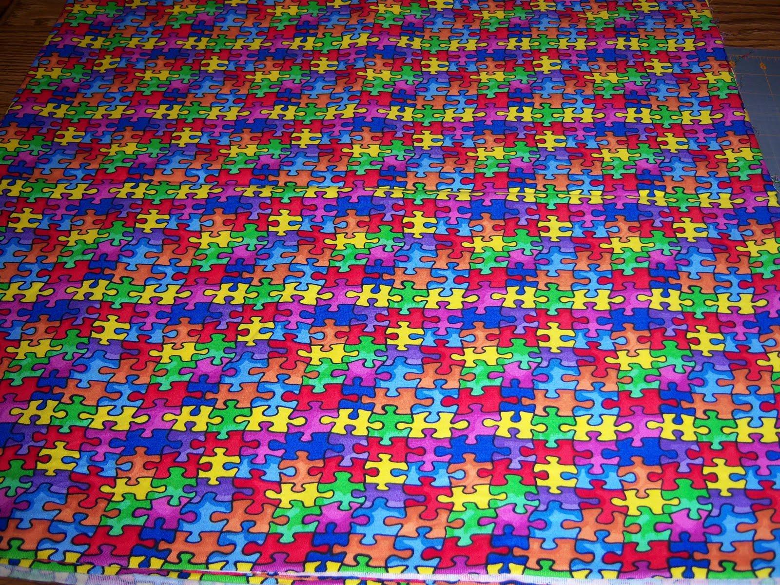 Ks Quilting Korner Puzzle Fabric