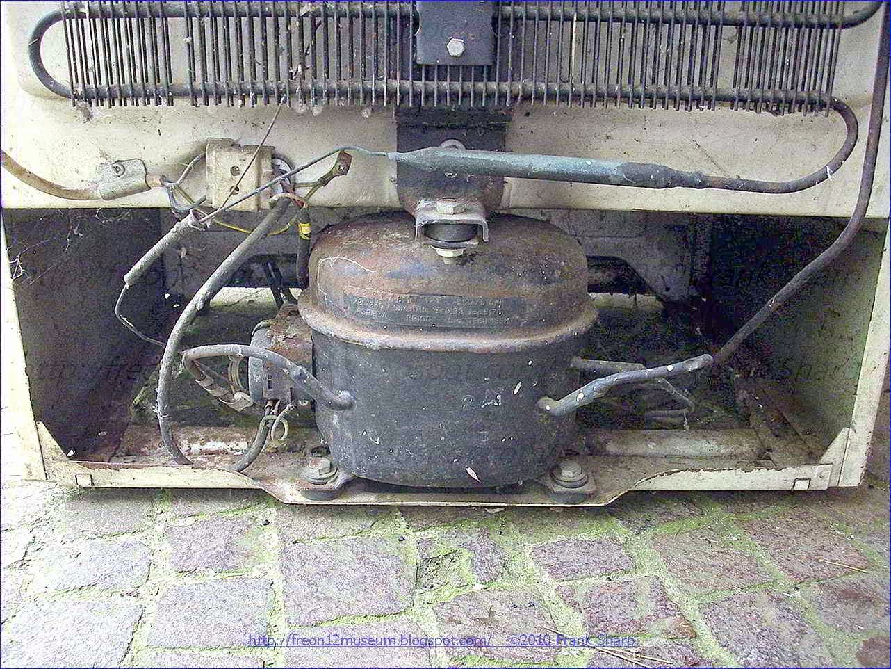 under the ice in a sealed compressor including a sealed casing in which an alternating motor driven compressor assembly is housed the assembly including a vertical axis