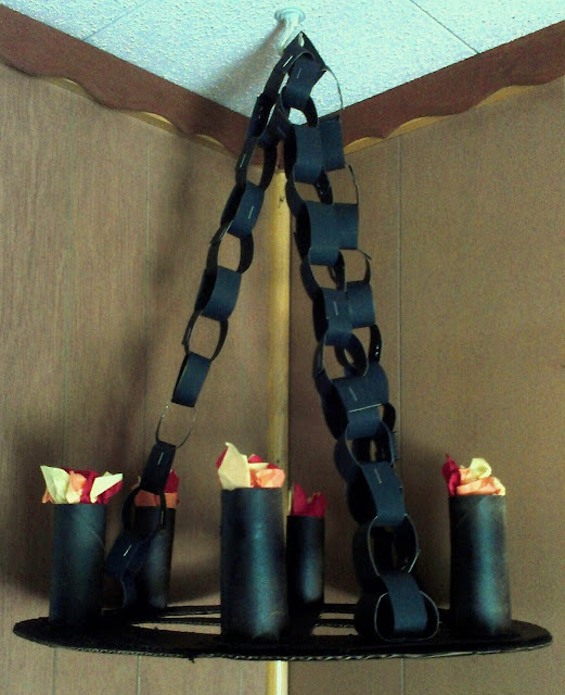 Menu ideas for busy moms diy medieval torches for Chandelier craft ideas