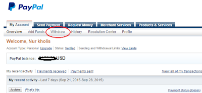 klik menu withdraw
