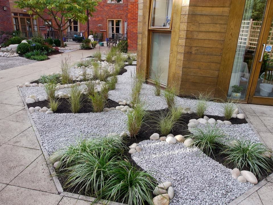 the original concept allowed for a small pond in the central area with the existing borders retained in shape and position but the planting was to be - The Garden Nursing Home