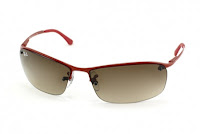 Ray-Ban Top Bar RB 3183 031 13 dark red