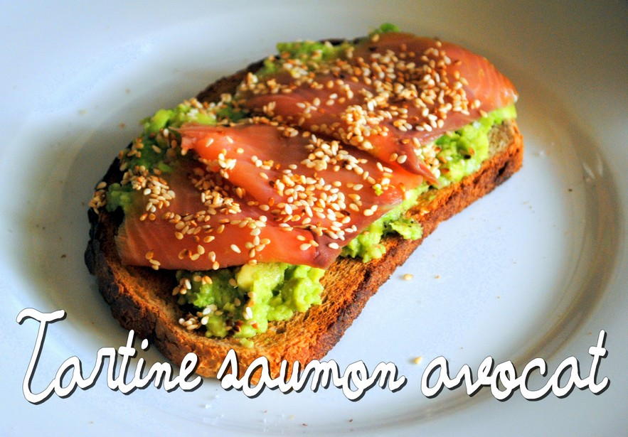 Tartines saumon-avocat