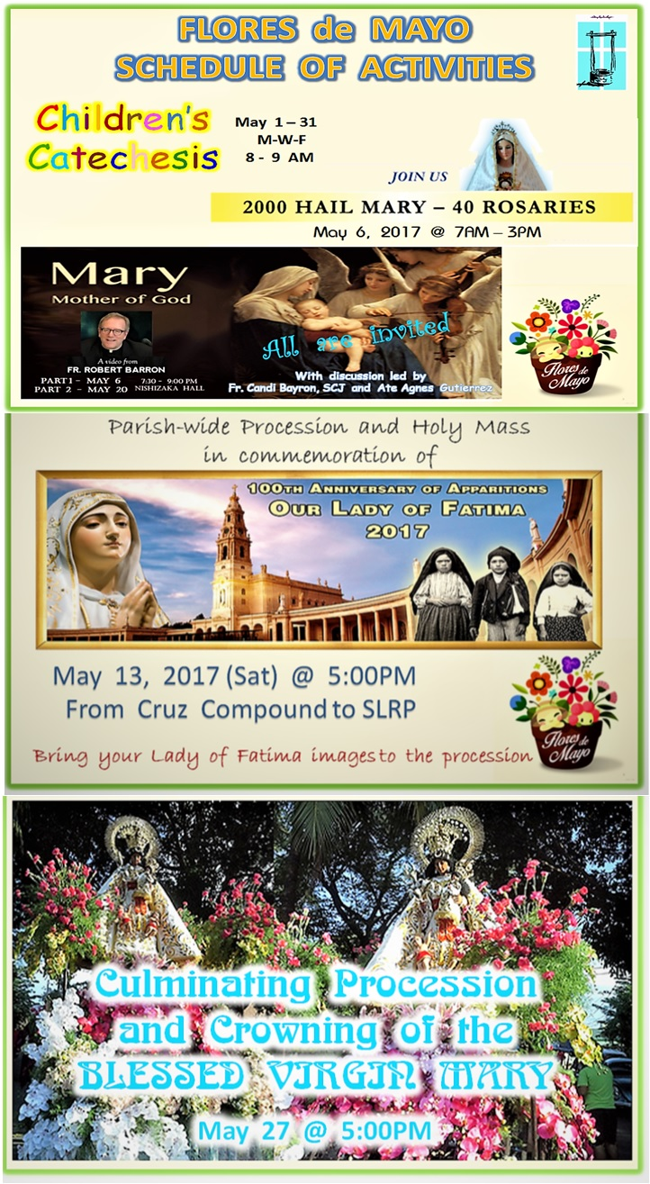 Flores de Mayo 2017 Calendar of Events