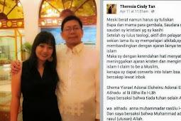 Theresia Cindy Tan, Gembala Pembina GPdI Manado dan Nias Masuk Islam
