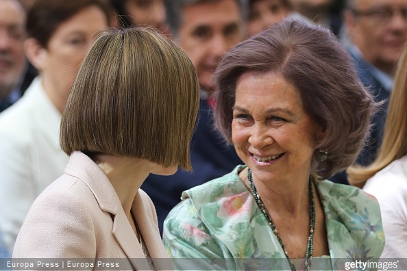 ueen Letizia of Spain, Queen Sofia, and Alfonso Alonso attend 'Queen Sofia Awards' at El Pardo Palace