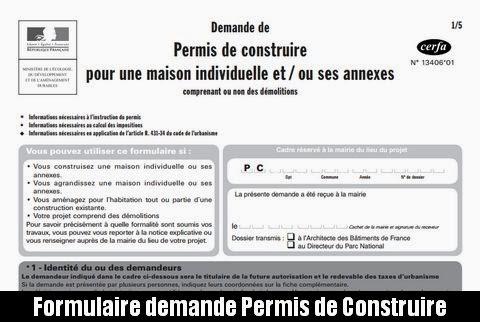 formulaire de demande de permis de construire france