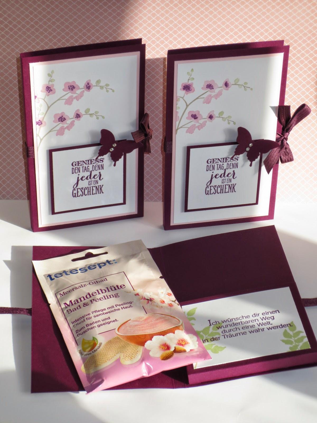 Stempelpf tchen ein kleines wellness geschenk for Kleine selbstgemachte geschenke