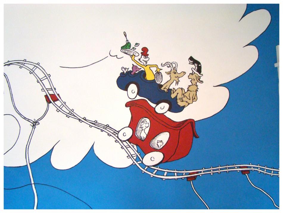 The funky letter boutique dr seuss kid 39 s room idea 3 for Dr seuss mural